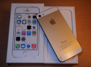 Iphone 5s 32GB gold white frame unlocked in Box