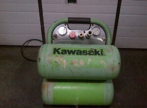 Kawasaki 5 Gallon Air Compressor With Wheel Cart