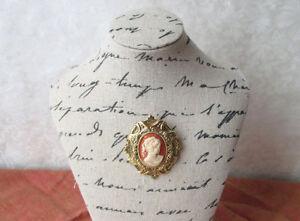 broche et pendentif vintage avec camée