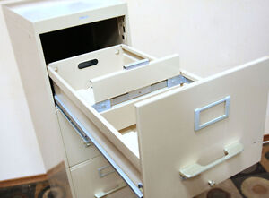 PERFECT COLE 4 Drawer Letter Sized Filing Cabinet SEE VIDEO