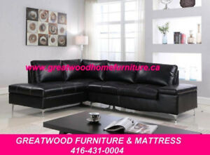SECTIONAL SOFA, CHROME LEGS, STORAGE ARM.....$699$699.00$699.00