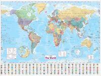 World Map 40 x 54 inch