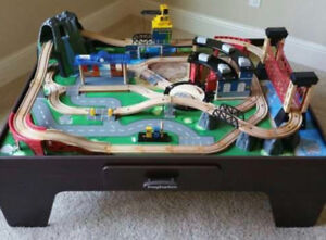 TRAIN TABLE SET WITH WOODEN CHAIR