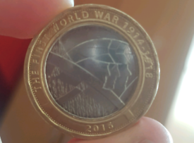 2.pound first world war coin 2016