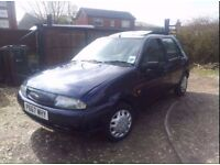 ford fiesta very good condition low milege