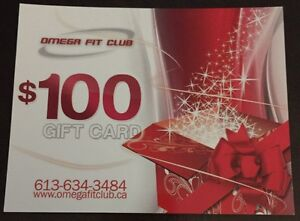 4 $100 gift cards for Omega Fit Club in Kingston's West End  Kingston Kingston Area image 1