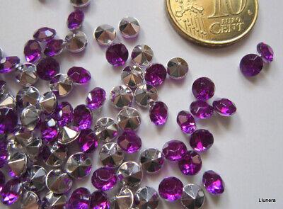 Cristal facetado diamante 4,5 mm morado X 60 UNIDADES acrílico para pegar
