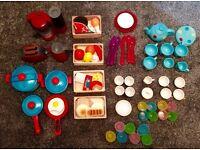Children's Toy Kitchen Accessories and Food