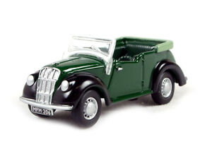 Morris-8-Tourer-Green-black-OO-Oxford-Die-cast-76ME002-1-76-Scale-British