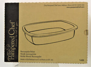 The Pampered Chef Rectangular Baker 1430 New in Box