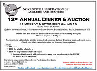 NS Federation of Anglers and Hunters Fall Dinner and Auction