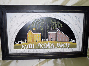 Faith Friends and Family picture  wooden frame