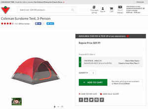 Tent with Durable Travel Bag