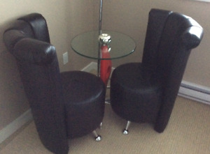 Modern Black Leather Chairs !
