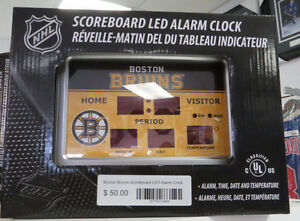 Boston Bruins Scoreboard LED NHL Alarm Clock