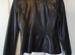 Leather jacket and skirt, Danier, new condition Kawartha Lakes Peterborough Area image 2