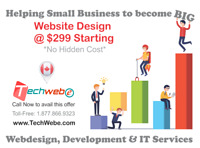 Webdesign starting $299- No hidden charges