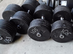 105lbs,130lbs - York Prostyle Commercial Dumbbells
