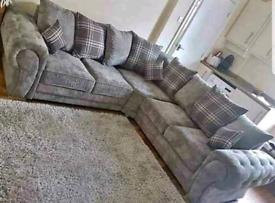 Verona corner or 3&2 Seater Sofa sets available New(black,Grey,mink)