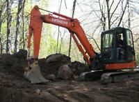 Mini excavator services, postal digging
