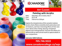 Canadore College, Parry Sound - Painting with Acrylics