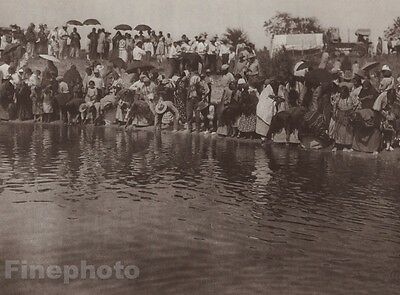 1900/72 Photogravure NATIVE AMERICAN INDIAN Cheyenne Dance EDWARD CURTIS 11x14