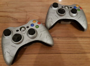 Xbox 360 Wireless Halo Reach Limited Edition Controller x 2