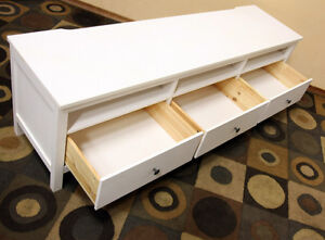 PERFECT  IKEA HEMNES TV bench w/ white stain SEE VIDEO