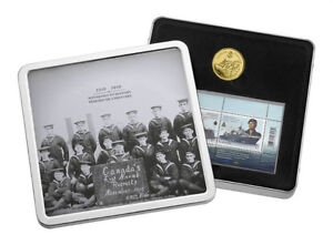 2010 Gold Plated $1 Coin and Stamp Set - 100th Anni. of the Navy
