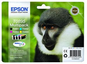 Epson T0895 Monkey Multipack Ink Cartridges C13T08954010 S20 S21 SX100 115 215
