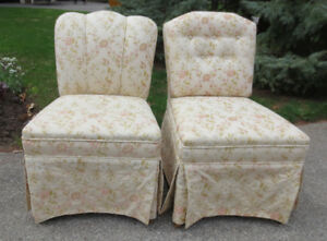 TWO ANITQUE SLIPPER CHAIRS