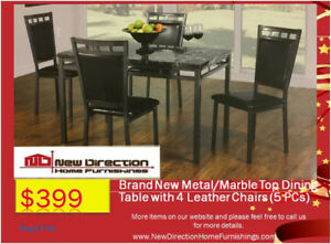 Whole Sale Price★ Brand New MarbleLooking Dining Table+4 Chairs★