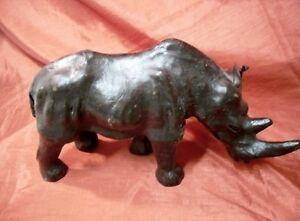 vintage all LEATHER Rhinocerus