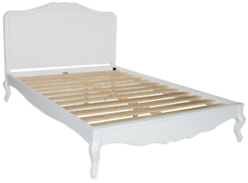 French style upholstered bed frame
