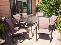 Patio Dining Set with 6 chairs