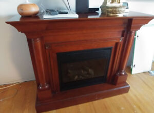 electric fireplace with mantle