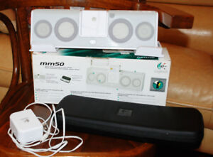 Portable Speaker System for iPod w. case Logitech mm50