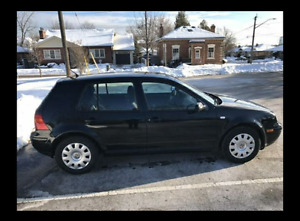 2003 Volkswagen Golf CL Sedan Black