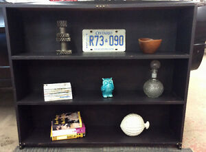 Rustic Black Bookshelf