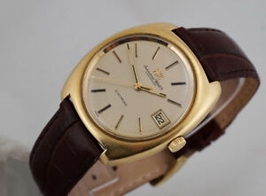 VINTAGE IWC ELECTRONIC 18K GOLD WITH DATE TUNING FORK FROM 1970s