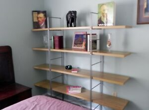 beautiful four shelf open bookcase from Ikea