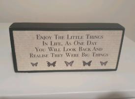 Motivational Quote - Decorative Block