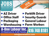 GENERAL LABOUR FULL TIME - STARTING $13 - $15