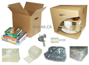 Heavy Duty Boxes for Moving or Storage, Packing Supplies