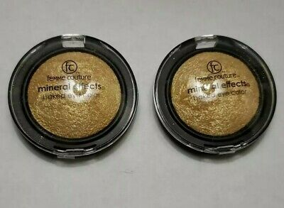 2x Femme Couture Mineral Effects Baked Eye Color * Fools Gold * New