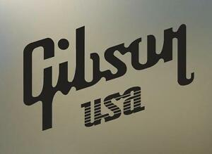 2-12-GIBSON-USA-guitar-vinyl-Decal-sticker-any-size-color-surface-car-S497