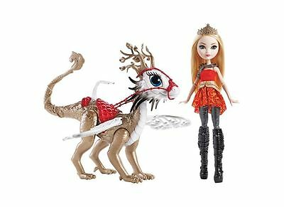 Ever After High Dragon Games Apple White Dragonrider Playset