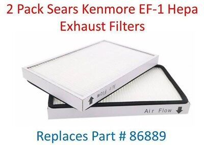 Sears Hepa Filters (2 Sears Kenmore Vacuum Cleaner EF-1 HEPA Exhaust Filter EF1 # 86889  )