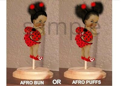 Pre Cut Red Ladybug Wings Puffs Bun Baby Centerpiece Stand OR Cardstock Cutouts - Red Centerpieces