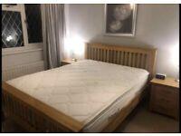 Solid oak bedroom furniture set by Oak World Devon Range, used only in show homes, prices below